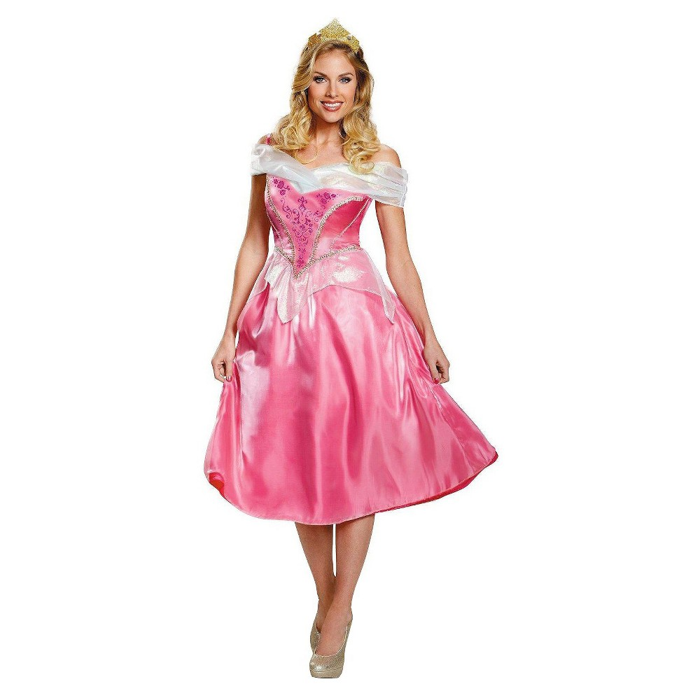 Women's Disney Princess Aurora Deluxe Costume Smal  Pink plus size,  plus size fashion plus size appare