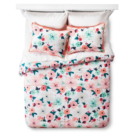 Floral Printed Comforter Set - Xhilarationâ?¢ : Target : target twin quilt set - Adamdwight.com