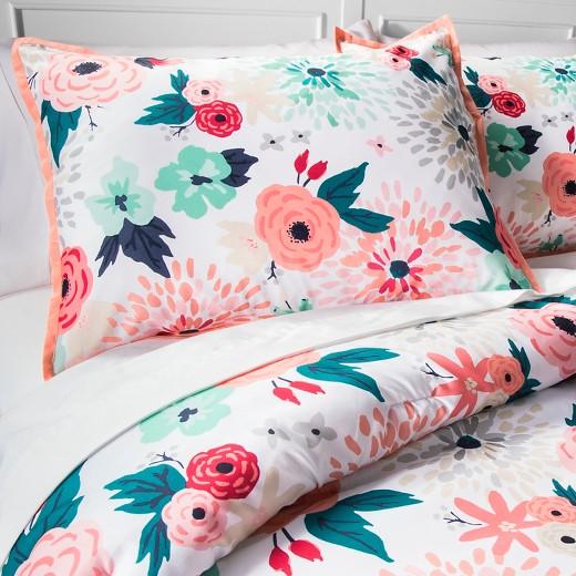 Multicolor Floral Printed Comforter Set