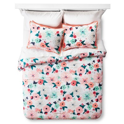 Floral Printed Comforter Set (Full/Queen)- Xhilaration™