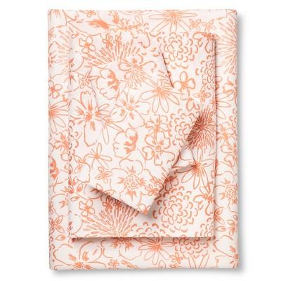 Coral & White Floral Sheet Set (Queen)- Xhilaration™