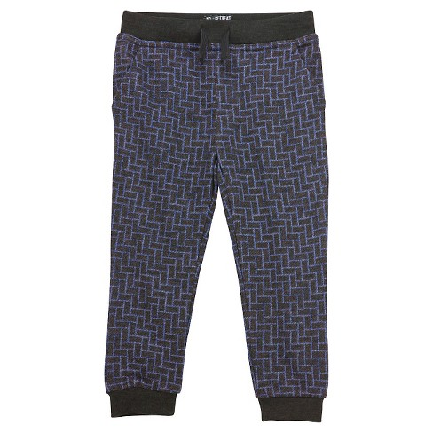 Toddler Boys' Jogger Pants - Blue Print - image 1 of 2