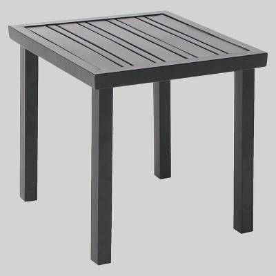 Ft. Walton Steel Slat Patio Side Table - Black - Project 62™