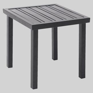 Ft Walton Steel Slat Square Patio Side Table Project 62