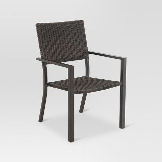 Belvedere 4 pk Wicker Patio Dining Chair   Frame Only   Threshold Patio Dining Chairs   Target. Outdoor Dining Chairs Only. Home Design Ideas