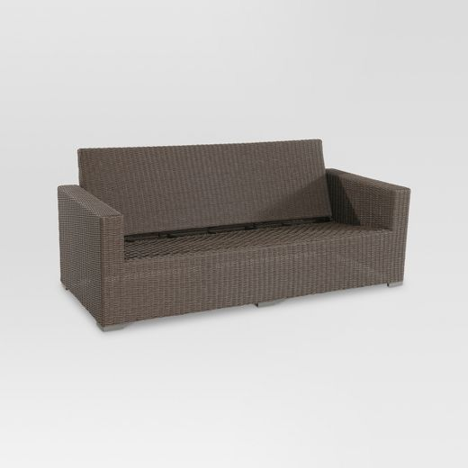 Heatherstone Wicker Patio Sofa - Frame Only - Threshold™
