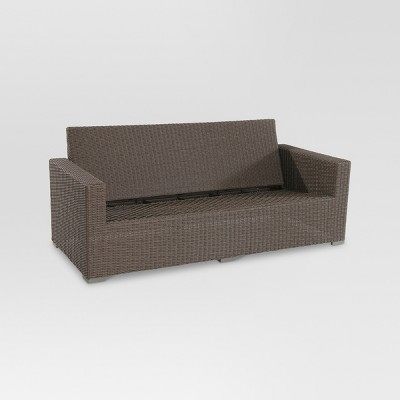 Heatherstone Wicker Patio Sofa   Frame Only   Threshold™  Outdoor Patio Couch