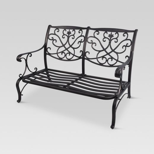 Folwell Cast Aluminum Patio Loveseat - Frame Only - Threshold™