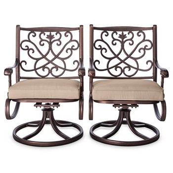 Threshold Folwell 2-Pk. Swivel Dining Chairs