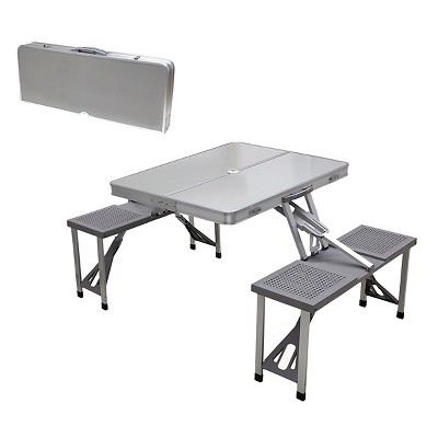 Perfect Aluminum Picnic Table Portable Table And Seats