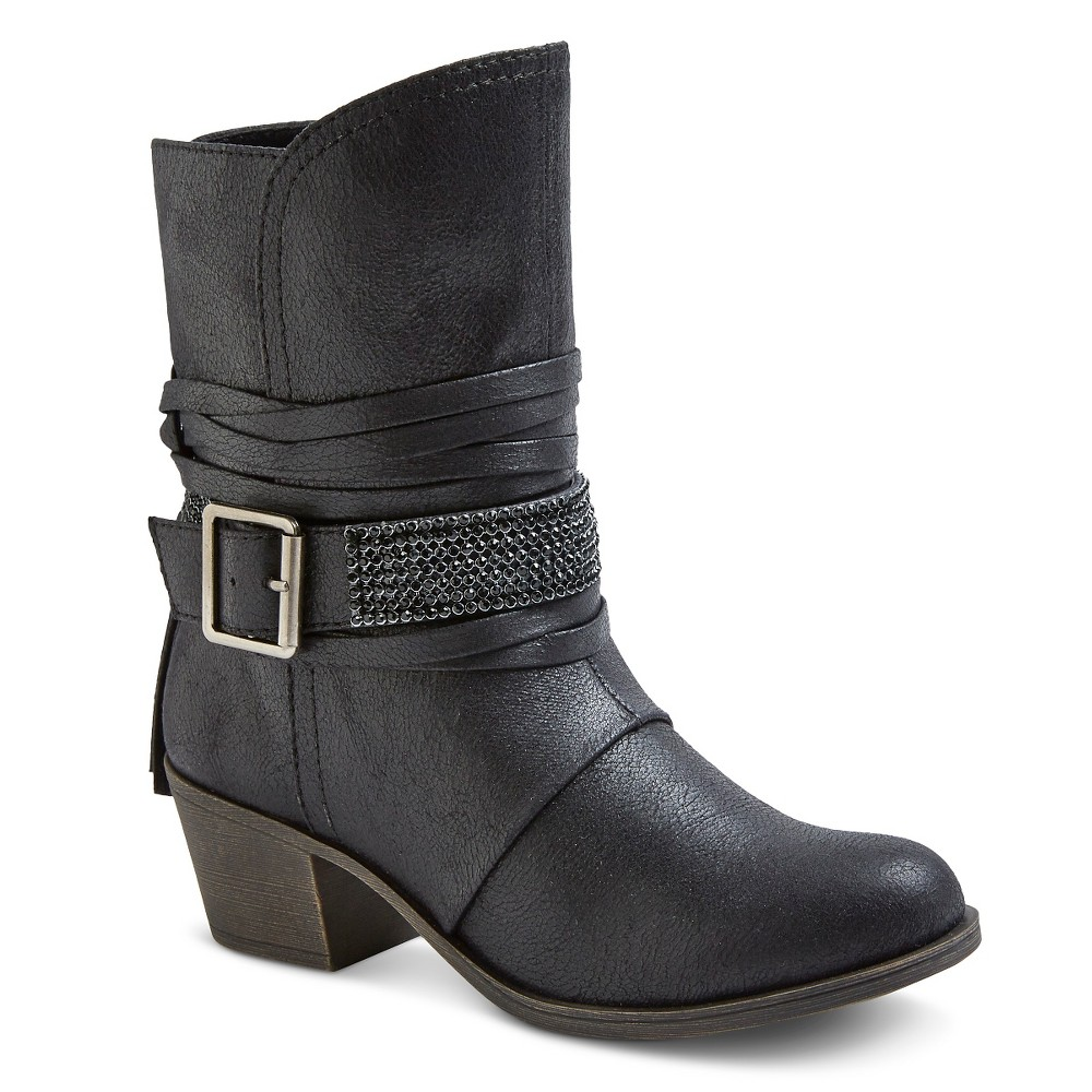 Womens Cover Girl Booties - Black 7.5
