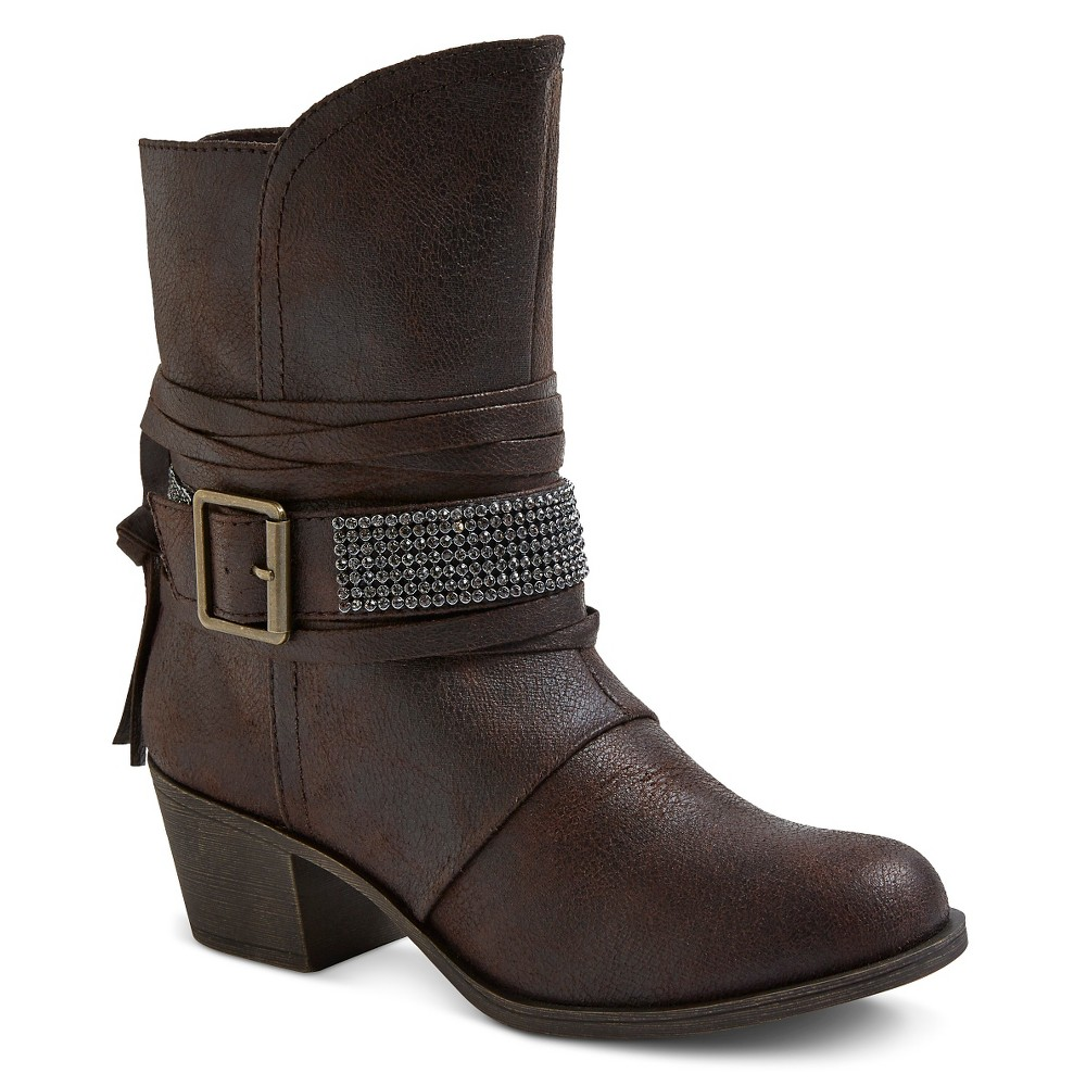 Womens Cover Girl Booties - Brown 6.5