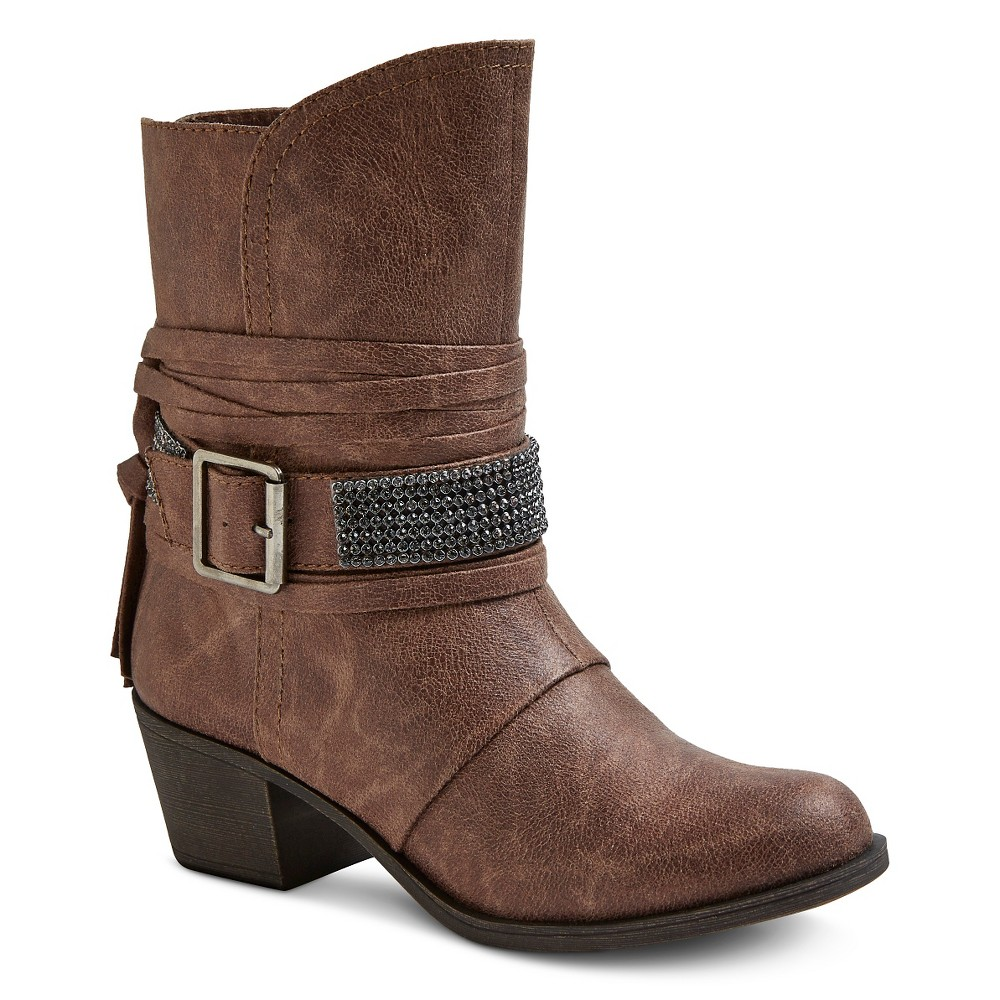 Womens Cover Girl Booties - Taupe 6, Taupe Brown