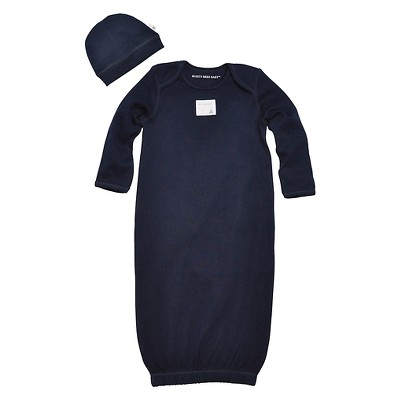 Newborn Boys' Burt's Bees Baby Cap n Nightgown - Blue 0-9 M