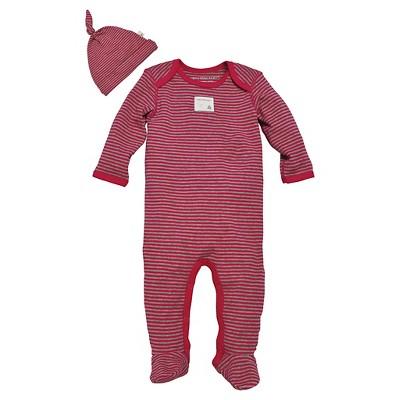 Burt's Bees Baby Newborn Girls' Coverall - Strawberry 0-3M