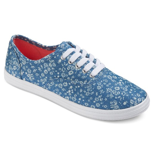 s lunea floral pattern canvas sneakers mossimo