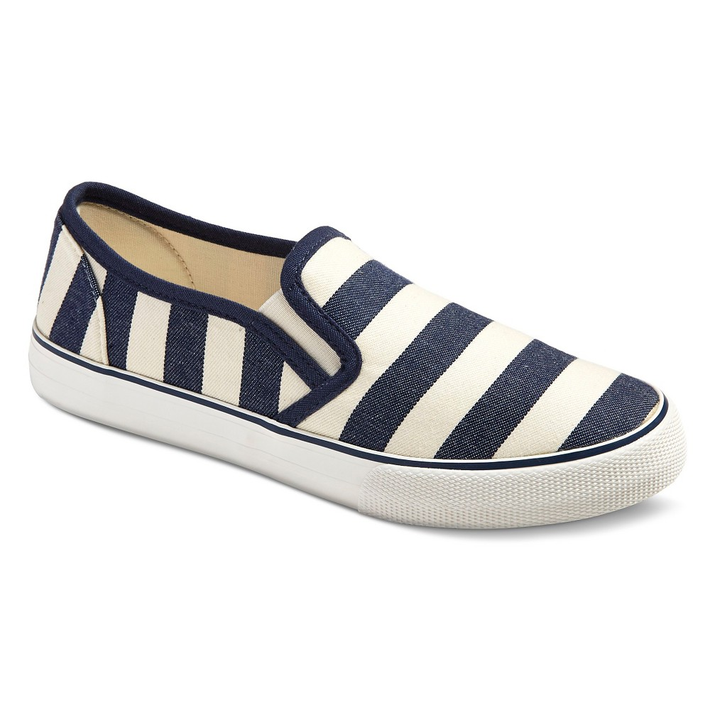 Womens Loretta Sneakers - Mossimo Supply Co. Navy Stripe 8, Blue