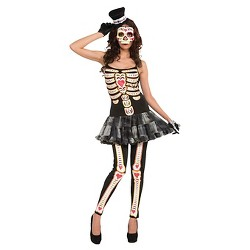 Women's Day of the Dead Costume One Size Fits Most