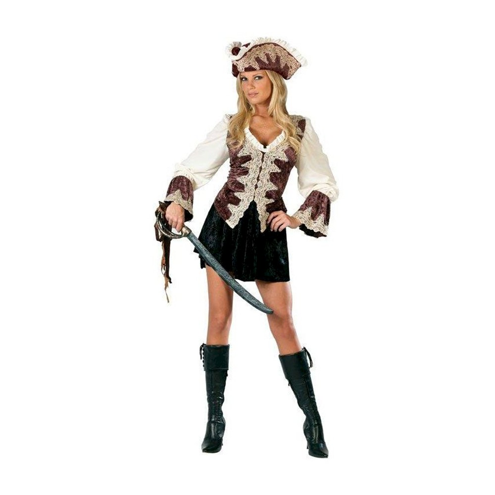 Royal Pirate Womens Costume - Small, Brown White
