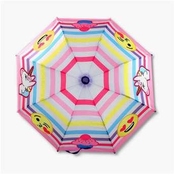 Girls' Emoji Stick Umbrella