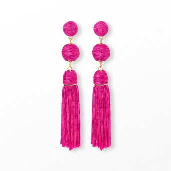 SUGARFIX by BaubleBar Monochrome Tassel Drop Earrings