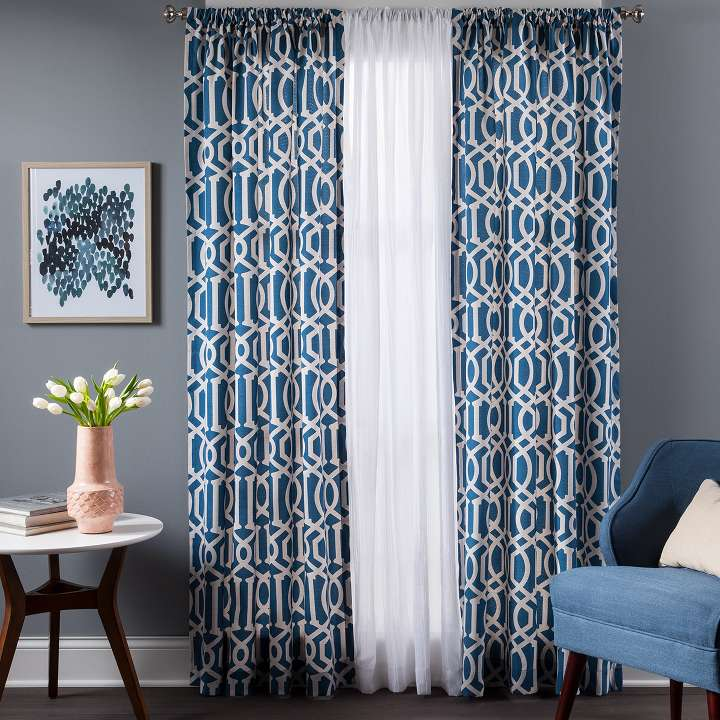 Curtains drapes target Target blue home decor