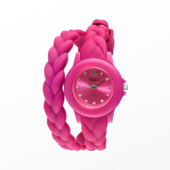 Women's TKO® Braided Rubber Double Wrap Watch