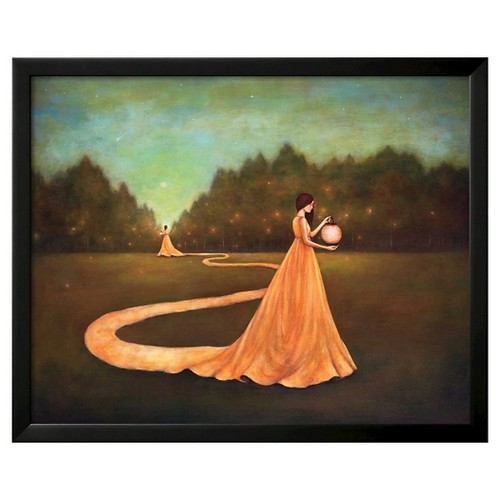 Art.com Unwinding the Path to Self-Discovery by Duy Huynh - Framed Art Print, Black