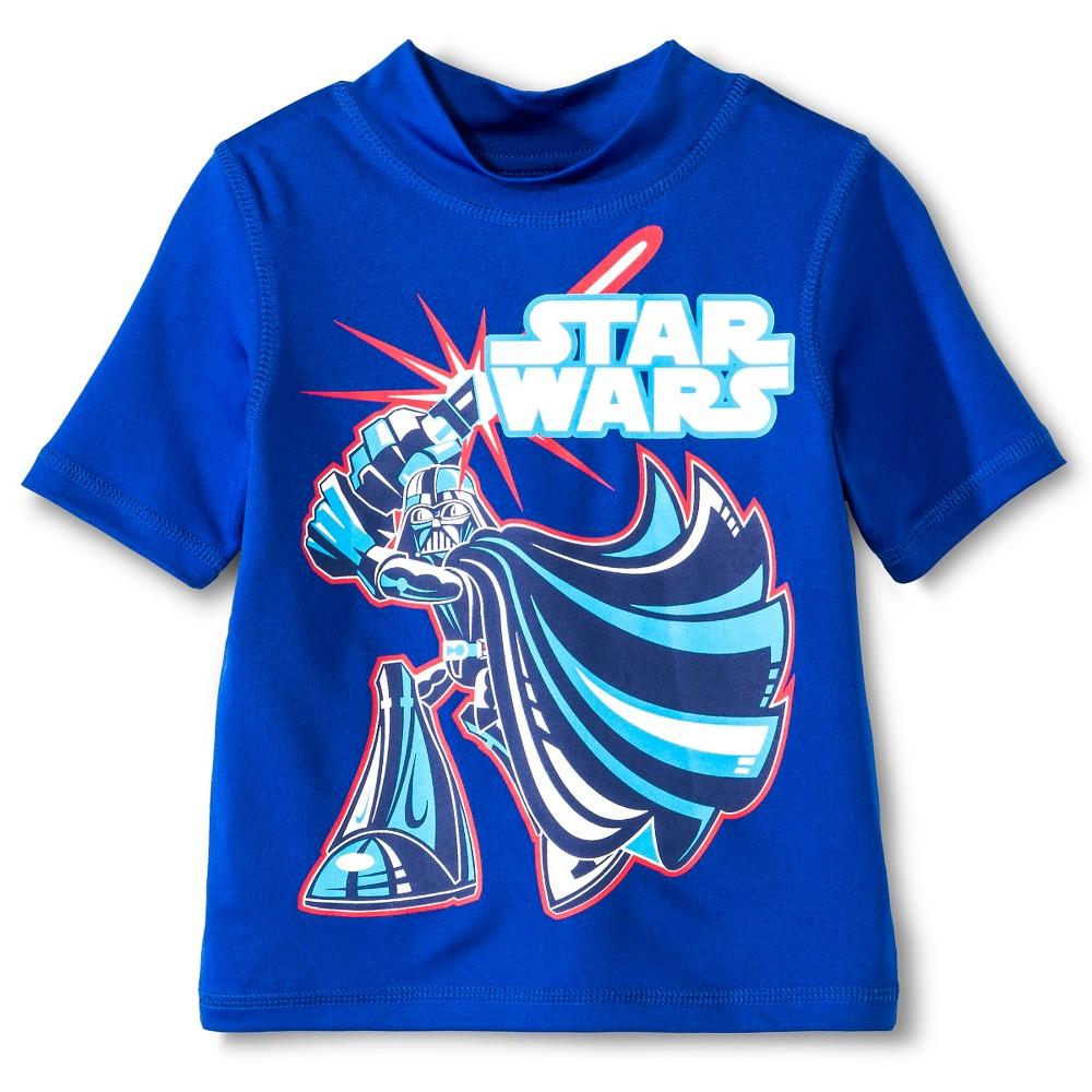 Star Wars Boys' Rash Guards Royal Blue 3T, Toddler Boy's