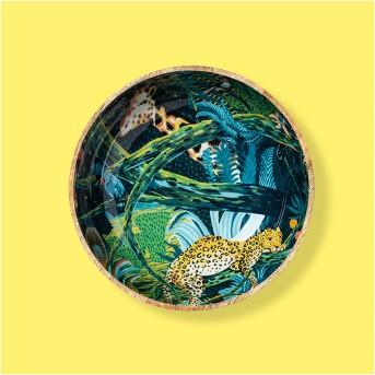 64oz Mango Wood Jungle Print Serving Bowl - Opalhouse™