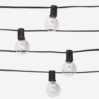 Black Cord Globe Lights Clear - Room Essentials™