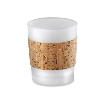 12ct Tropical Chic Cork Wrapped Tea Light Holder Set Gold Glitz - Kate Aspen®