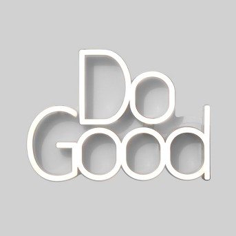 Do Good LED Neon Wall Sign White - Room Essentials™