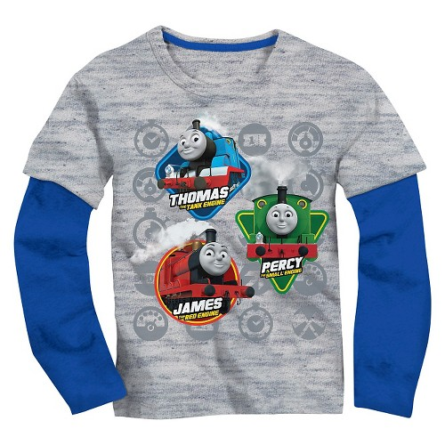 Toddler Boys' Thomas the Train Long Sleeve Tee Shirt - Heather Grey 5T, Toddler Boy's