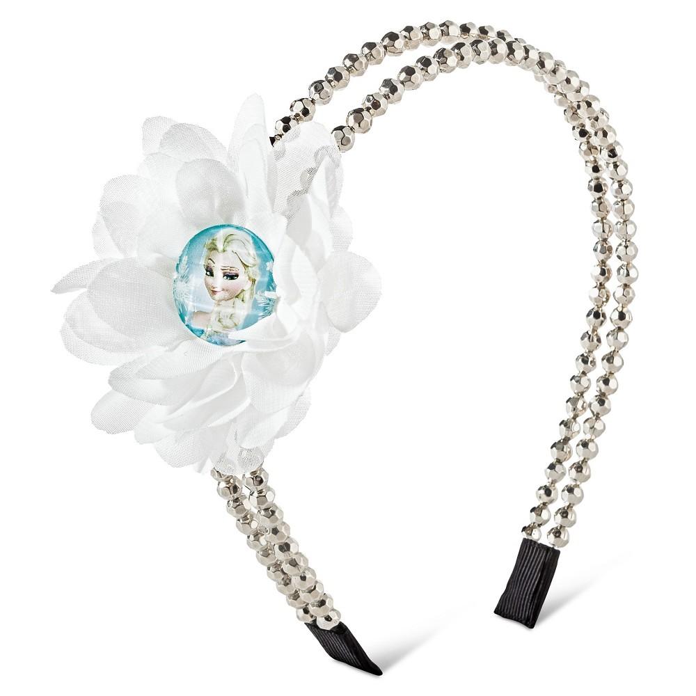 Frozen Girls Beaded Headband - Silver