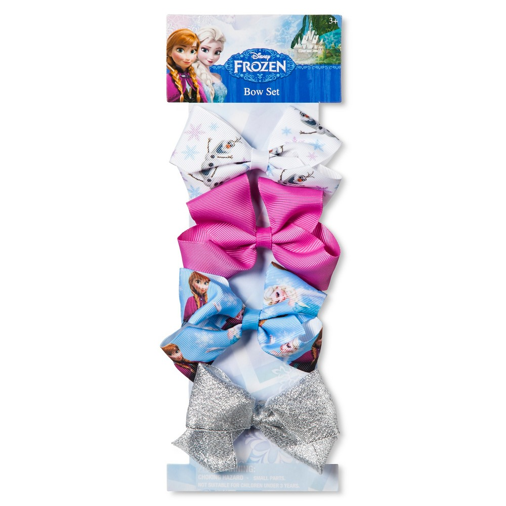 Frozen Girls 4pk Bows - Multi-Colored
