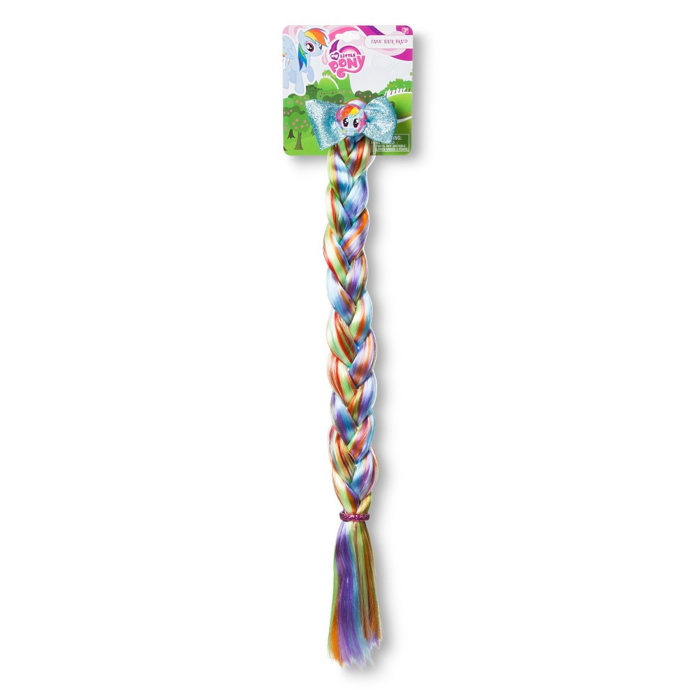 My Little Pony Kids Braid With Rhinestones and Satin Bow Barrette, Girls, Multi-Colored