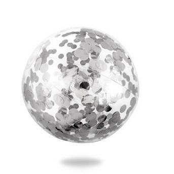 Minnidip Cue the Confetti Beach Ball - Silver