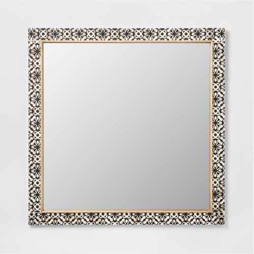 Havana Pieced Mirror Black 24x24 - Opalhouse™