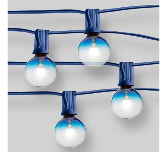 20ct String Lights G40 Blue Ombre Bulbs - Blue Wire - Room Essentials™