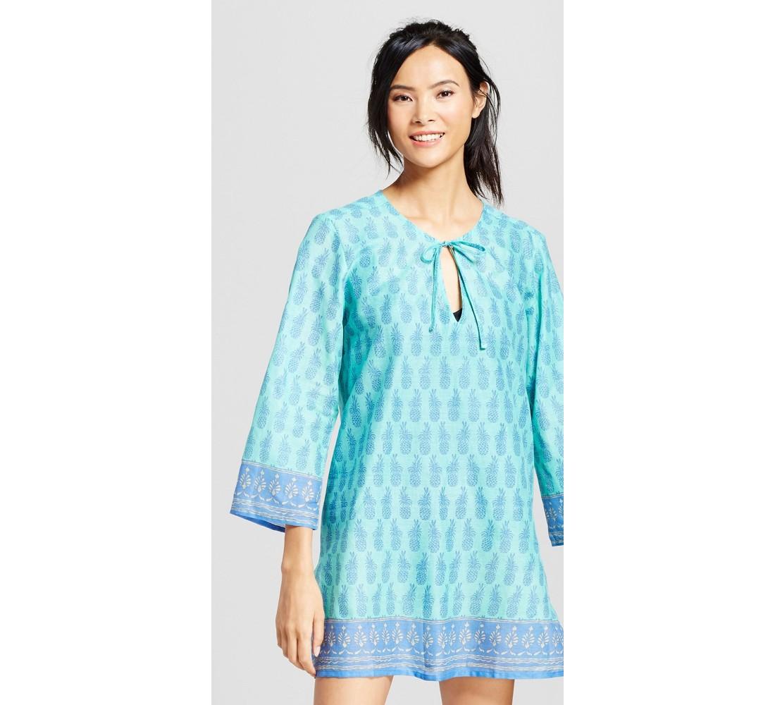 Rock Flower Paper Women's Pineapple Beach Tunic - Blue