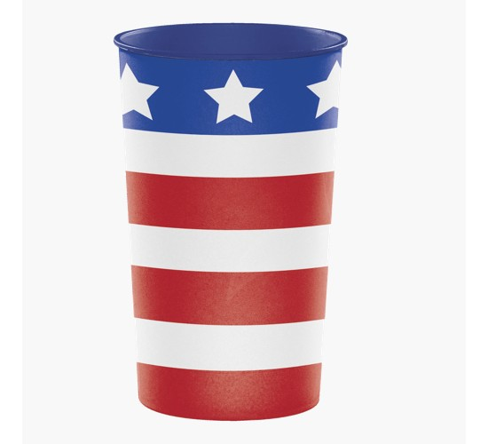 Patriotic 22 Oz Printed Plastic Cups