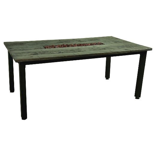 Campbell Faux Wood Fire Dining Table Target