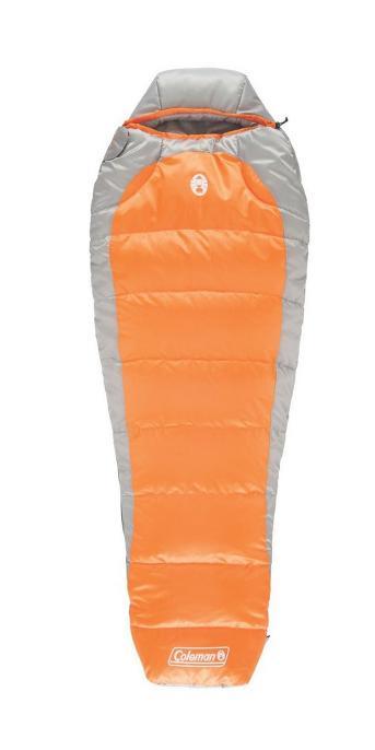 Coleman® Silverton™ 25 Degree Mummy Sleeping Bag – Orange/Gray