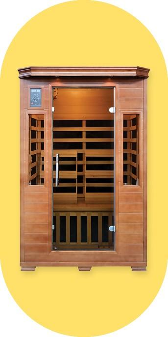 Majestic Saunas 2-Person Hemlock Premium Infrared Sauna with 6 Carbon Heaters