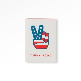 Junk Food Peace Sign Playing Cards - Red, White & Blue