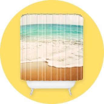 Bree Madden Ombre Beach Shower Curtain Buff Beige - Deny Designs