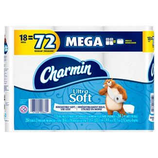 Charmin Ultra Soft Toilet Paper - 18 Mega Rolls