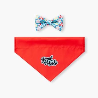 Good Vibes Dog Bow Tie & Bandana - 2pc - Sun Squad™