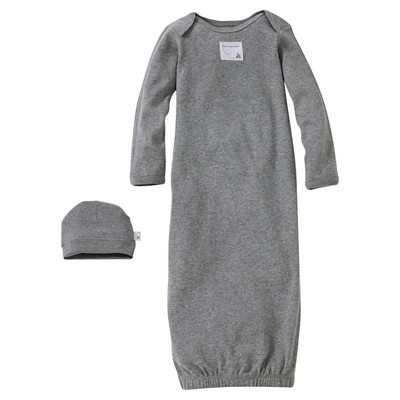 Burt's Bees Baby™ Newborn Nightgown - Heather Gray 0-9 M